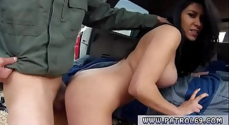 Ebony police woman and cop blackmail Stunning Mexican floozie
